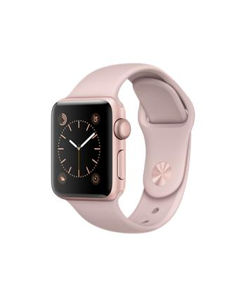 Apple Watch Series 2, 38mm Rose Gold Aluminium Case with Pink Sand Sport Band