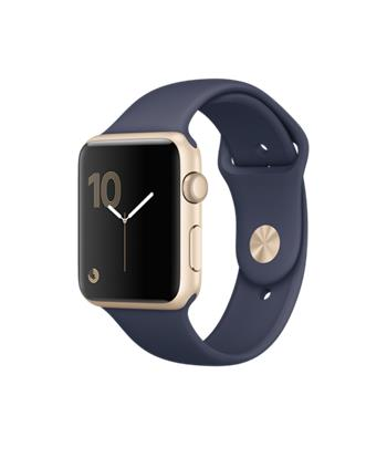 Apple Watch Series 1, 42mm Gold Aluminium Case with Midnight Blue Sport Band