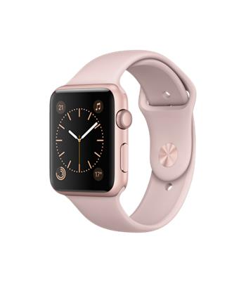 Apple Watch Series 1, 42mm Rose Gold Aluminium Case with Pink Sand Sport Band