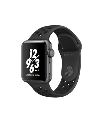 Apple Watch Nike+, 38mm Space Grey Aluminium Case with Anthracite / Black Nike Sport Band