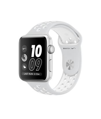 Apple Watch Nike+, 42mm Silver Aluminium Case with Platinum / White Nike Sport Band