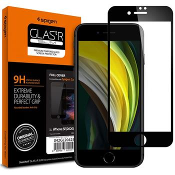 Spigen Glass FC HD, black - iPhone SE/8/7